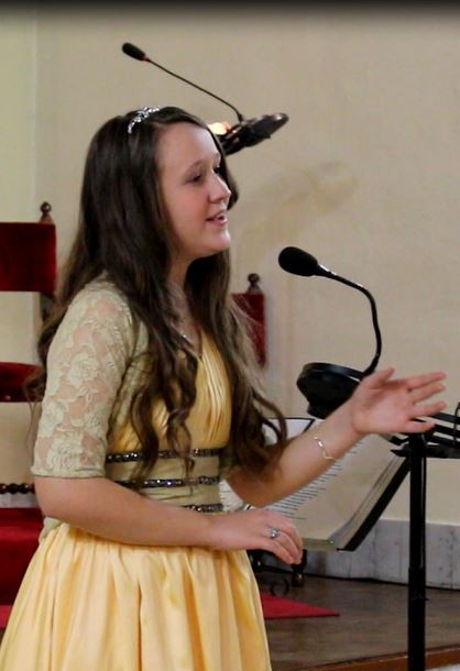Young soprano talent Marie-Juliette in Christmas concert 2014 - Buenos Aires - La Plata